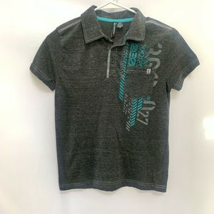 Distortion Boys Collared Shirt, Size Small